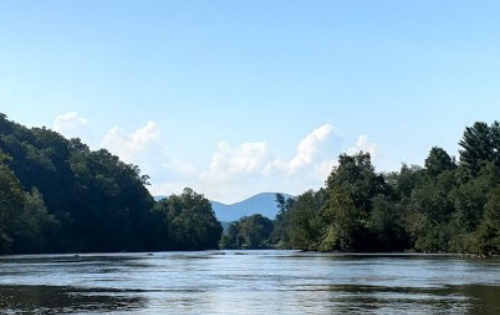 Managing reverse culture shock_photo of French Broad River in Asheville